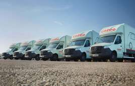 Cazoo car delivery vehicles