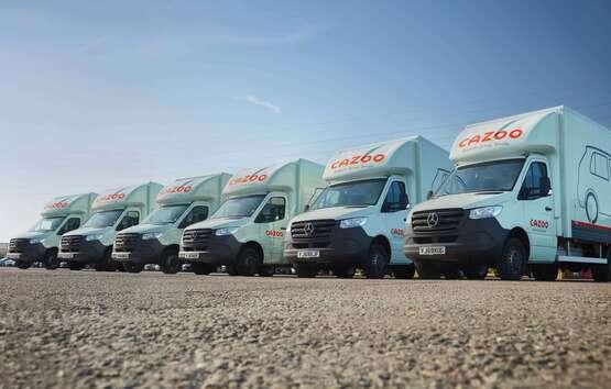 Cazoo used car transporter lorries