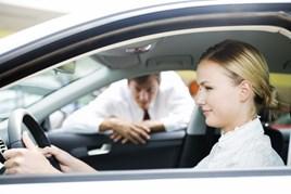 Female car buyer