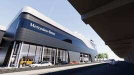 CGI image: Mercedes-Benz Retail Group's redeveloped West London showroom