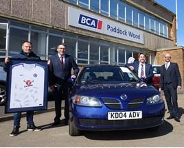 BCA presents £1,000 Motorline charity sale proceeds to Royal Brompton & Harefield Hospitals