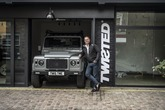 Twisted Automotive founder Charles Fawcett at the Radley Mews studio