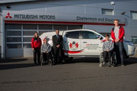 CCR Mtisubishi hands over an L200 Titan to Gloucester Wheelchair Rugby Club