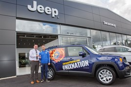 Swansway Chester operations director Andrew Wakelin with James Brice, general manager of Cheshire Phoenix