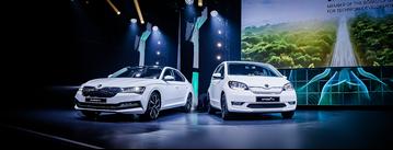 Skoda has unveiled its new Superb plug-in hybrid (PHEV) and Citigo e electric supermini alongside plans for an iV electromobility sub-brand