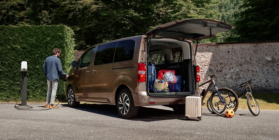 Citroen's ë-SpaceTourer MPV electric vehicle (EV) claims a 143-mile range and over 2,400 litres of boot space