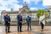 From left: Ian Ward, Birmingham City Council leader; Cllr Waseem Zaffar, cabinet member for transport and the environment; Mark Jones, sales manager, Motorpoint Birmingham and Laura Shoaf, managing director of Travel West Midlands