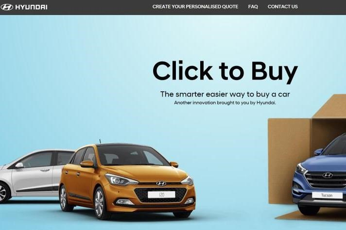 Hyundai Launches Click To Buy Website Digital Marketing
