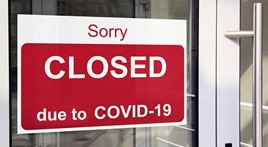 Car dealerships closed due to the COVID-19 lockdown
