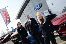 Perrys Leasing launch (right to left): executive director Denise Millard, director David Johnson and team leader Jo Sadler