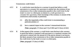 CONC commission disclosure rules