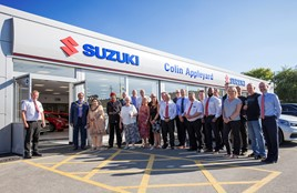 Colin Appleyard managing director, Robin Appleyard (far left), with his team at the group's new Bradford Suzuki dealership.