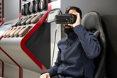 Virtual reality technology in action at Glyn Hopkin's new flagship FCA Group store in Romford