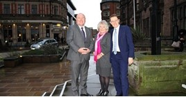 Photo caption (from left to right): Cllr Jim O'Boyle, Coventry City Council cabinet member for jobs and regeneration; Cllr Patricia Hetherton Coventry City Council cabinet member for city services; and Andy Street, Mayor of the West Midlands