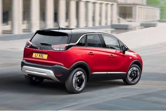 The updated rear of the new Vauxhall Crossland SUV