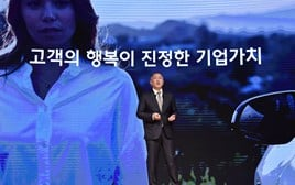 Euisun Chung, executive vice chairman of Hyundai Motor Group, addressing the Korean brand's 2020 New Year ceremony in Seoul