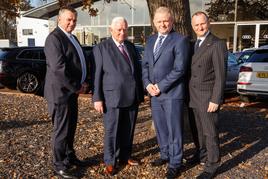 Swansway Group's family leadership team (from left): Peter Smyth; Michael Smyth; Peter Smyth and John Smyth