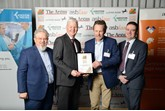 Daniel Broyd, managing director for Dinnages Garages, receives the Super Sussex Growth Award