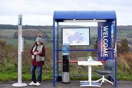 Dacia UK's bus stop 'car dealership' in Yorkshire