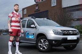 Dacia visited Wigan Warriors to launch three-year RFL sponsorship deal