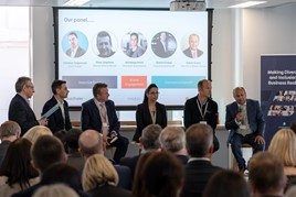 The diversity and Inclusion panel on stage at AutoTrader's second annual Making Diversity and Inclusion a Business Reality event