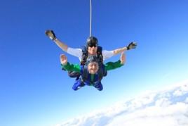 Marshall Motor Holdings' Daksh Gupta (below) completes BEN charity sky dive