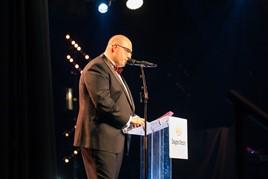 Darren Bradford of Drayton Motors on stage