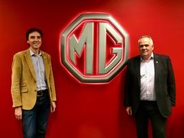 MG Motor UK marketing director, Guy Pigounakis (right), and commercial director, David Pugh