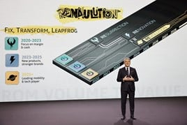 Groupe Renault CEO Luca de Meo unveils the carmaker's new 'Renaulution' strategy