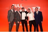 Isuzu UK managing director, William Brown, (left) with the team from the brand's Dealer of the Year, York Van Centre