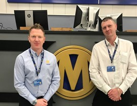 Manheim's new general managers, Dean Ashworth and John Fletcher