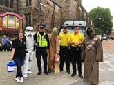 The team from Motorpoint Derby dressed as characters from Star Wars for a fund-raising theme-day