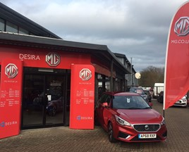 Desira Group's first MG Motor UK dealership, in Diss, East Anglia