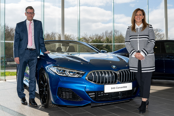 Snows' chief operating officer Neil McCue with BMW/Mini division head of business Diana Mckinnon