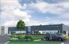 Artist's impression: Dick Lovett's planned JLR facility
