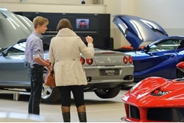 A Ferrari UK apprentice open day at Dick Lovett, Swindon