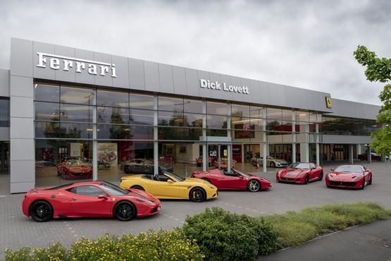 Dick Lovett's refurbished Ferrari UK showroom in Swindon