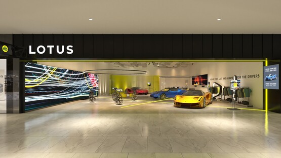 New Lotus Cars corporate identity includes store concept