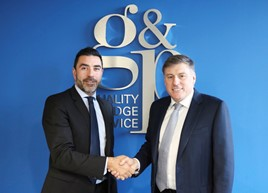 Dino Kyriacou chief executive at GP (left) and Geoff Cousins (right) who has been appointed chairman at GP