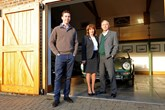 James Cottingham, DK Engineering's senior  vehicle acquisitions specialist, and the business's founders, his parents Kate and David