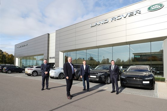 State visit: Ministers on their visit to Cambria Automobiles' Hatfield dealership sites