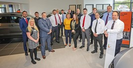 Staff at newly-launched Snows Seat Basingstoke, with Henry Altenburger, franchise manager (right)