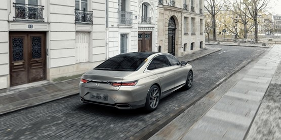 DS Automobiles' new DS 9 flagship hybrid saloon measures in at 4.93m long