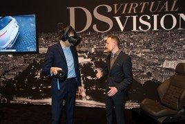 DS Virtual Vision being demonstrated at the Geneva Motor Show 2017