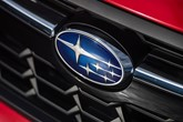 Subaru logo on car grille