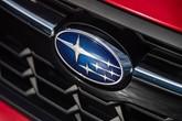 Subaru logo on car grille