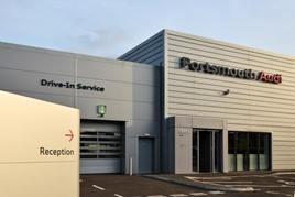 Harwoods Group's new Audi Portsmouth aftersales facility
