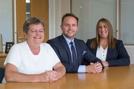 Chorley Group managing director Pauline Turner, sales and marketing director Adam Turner and Sue Corkin, operations manager