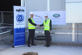 Duncan Ogilvie, chief executive at Ogilvie Group (left) and Peter Vardy, chief executive of Peter Vardy group.