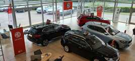 Inside Holdcroft Group's MG Motor UK showroom at Cheshire Oaks